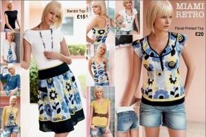 Štýlová dámska kolekcia oblečenia Next pre bežné nosenie Miami Retro